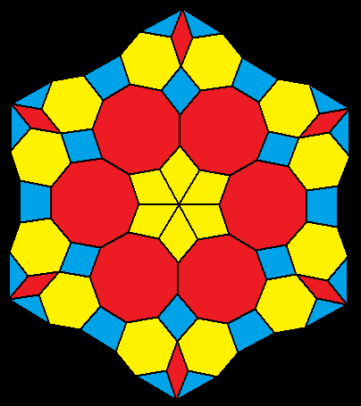 Snowflake in Primary Colors