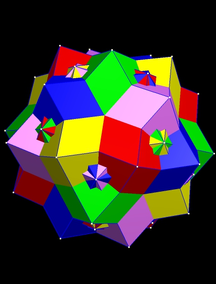 Compound of Five Rhombic Dodecahedra