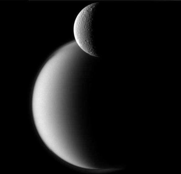 Rhea Before Titan