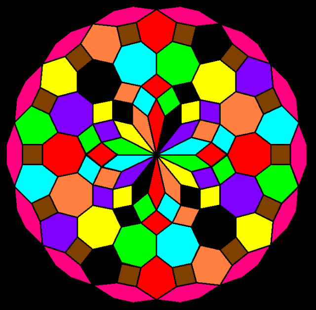 Mandala Based On Heptagons