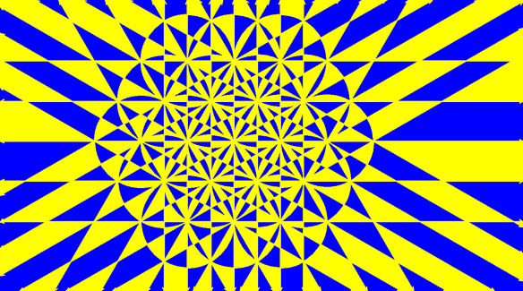Snowflake in Blue and Yellow
