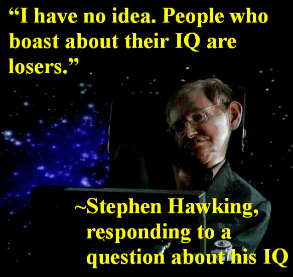 Stephen Hawking, On IQ