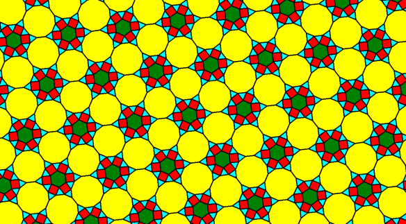 A Quasi-Regular Tessellation for the New Year MMXIV