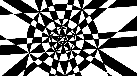 Concentric Pentagons, Pentagrams, and Circles