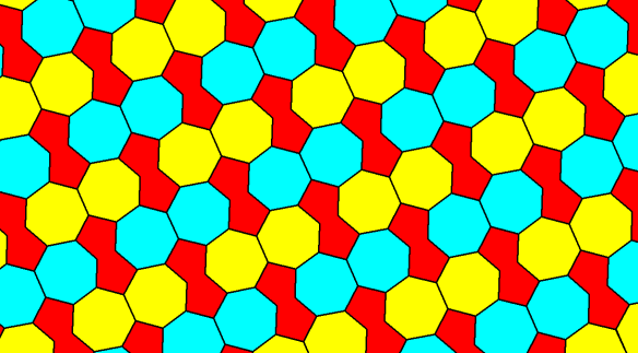 Tessellation Featuring Regular Heptagons