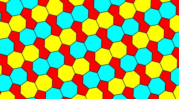 Tessellation Featuring Regular Heptagons