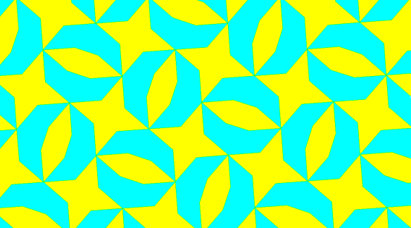 A Chiral Tessellation of Tetraconcave Octagons, Convex Hexagons, and Concave Heptagons