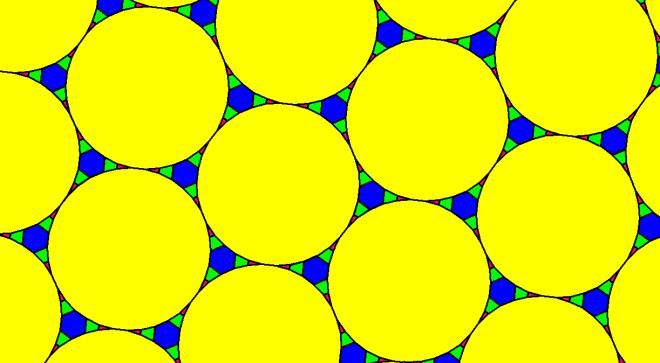 Tessellation Using Regular Hexacontakaihexagons, Equiangulr Hexagons, Isosceles Triangles, and Isosceles Trapezoids