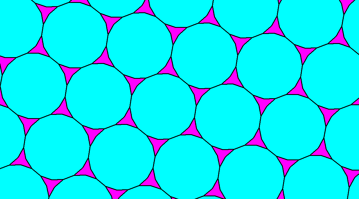 Tessellation Using Regular Octadecagons and Triconcave Equilateral Hexagons