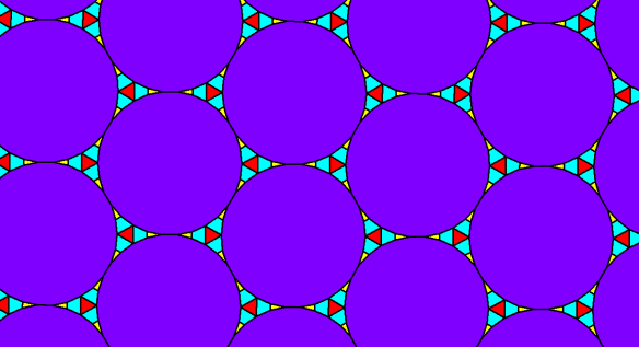 Tessellation Using Regular Triacontagons, Isosceles Triangles, Equiangular Triangles, and Trapezoids