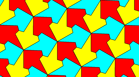 Three-Color Tessellation Using Diconcave Octagons