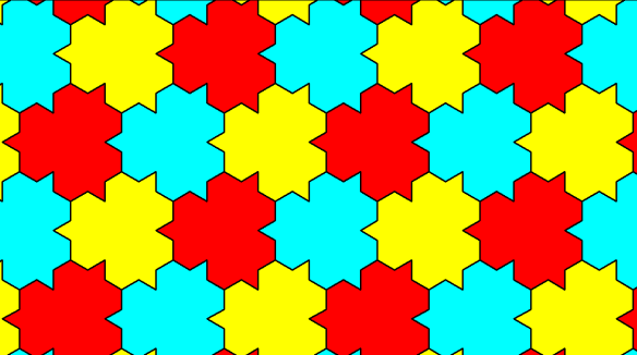 Three-Color Tessellation:  A Modification of the Tiling of the Plane with Regular Hexagons