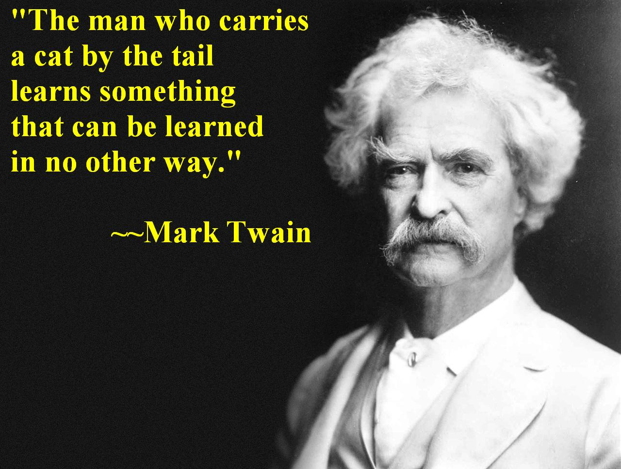 Mark Twain, On Education and Cats
