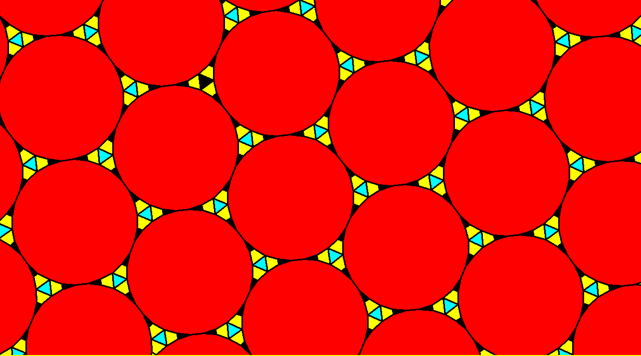 Tessellation Featuring Regular Triacontagons, Equilateral Triangles, Isosceles Triangles, and Isosceles Trapezoids