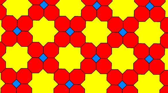 Tessellation Using Squares, Regular Octagons, and Octaconcave, Equilateral Hexadecagons