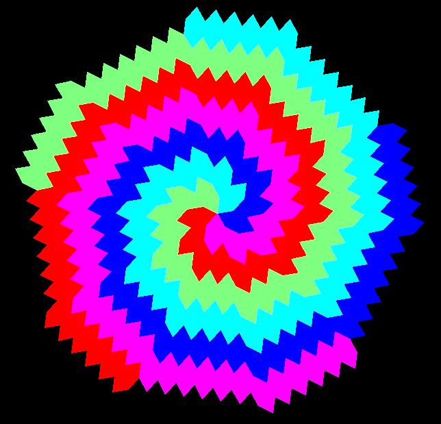 Hex radial tessellation 4