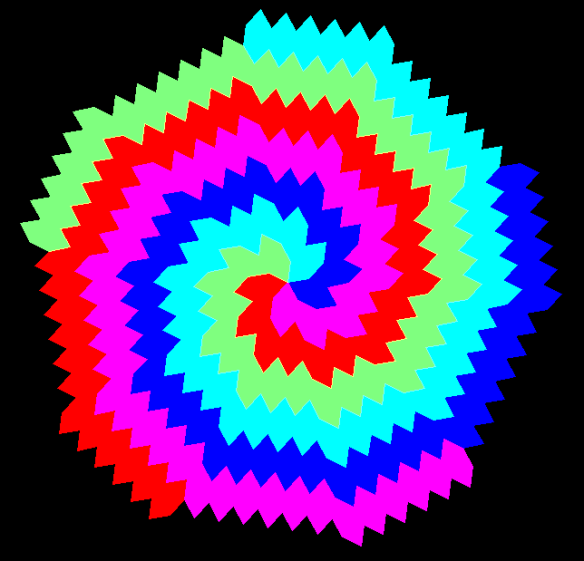 Hex radial tessellation 4