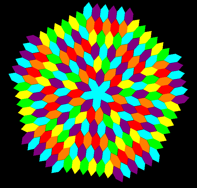 Hex radial tessellation