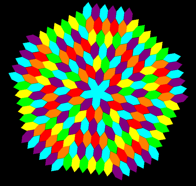 Hex radial tessellation