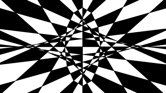 Op Art Based On an Elongated Dodecagon