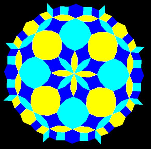 radial octagonal mandala ic