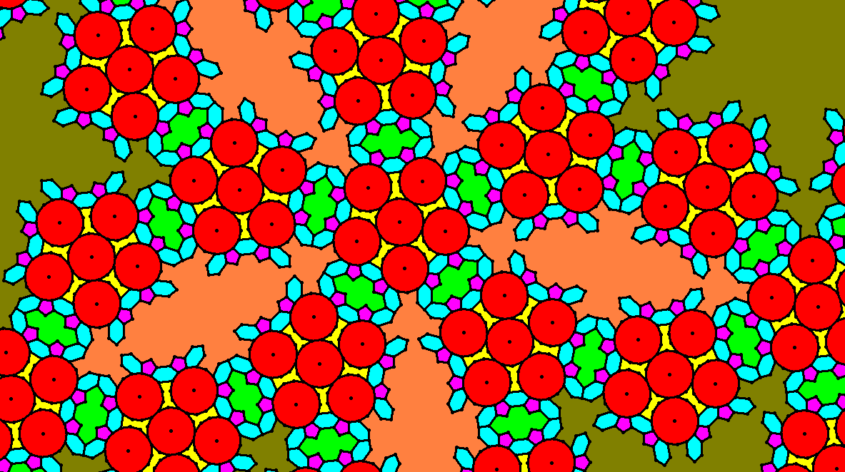 The Center of a Radial Tessellation Featuring Regular Pentadecagons