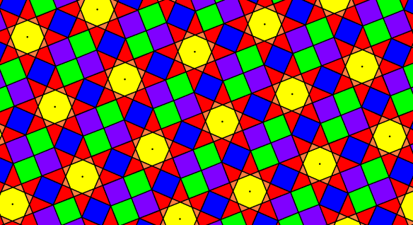 Tessellation Using {8/3} Star Octagons and Squares