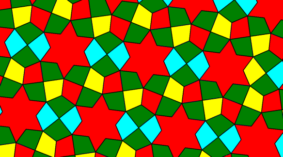 Tessellation Featuring Kites and Six-Pointed Stars #2