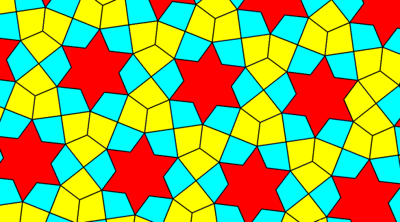 Tessellation Featuring Kites and Six-Pointed Stars