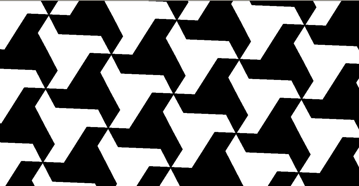 Tessellation with Triconcave Enneagons