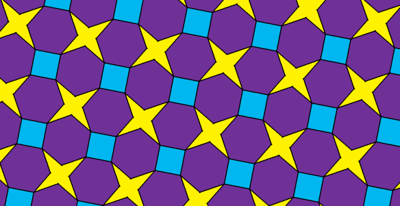 Tessellation of the Plane with Regular Hexagons, Squares, and Tetraconcave, Equilateral Octagons