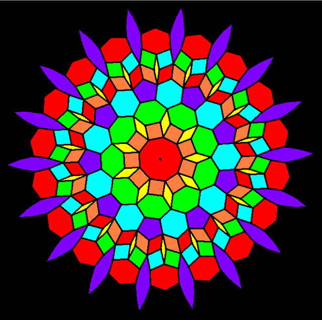 Various Colorings of a Enneagon-Centered Mandala
