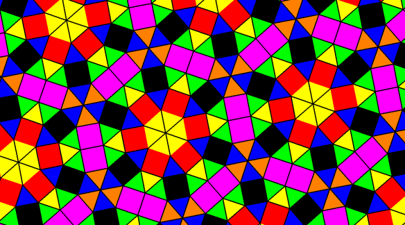 Tessellation Using Squares and Triangles