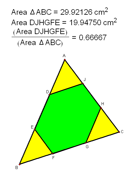 A Triangle's Tridpoint-Hexagon