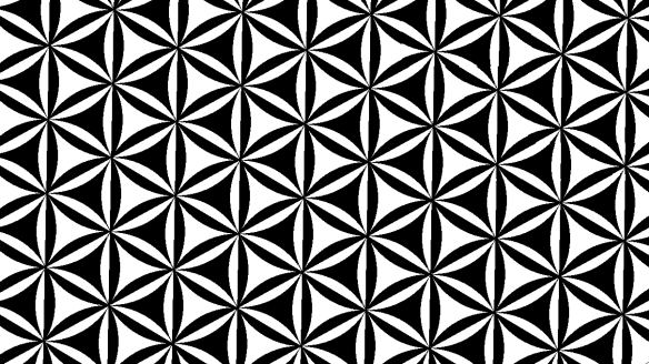 alternating triangular tesselation with arcs