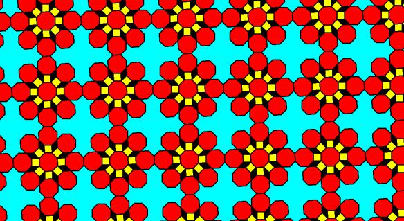Regular Octagons Squares Rhombi and Nonconvex Hexakaitriacontagons