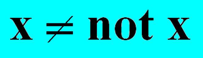 x not x