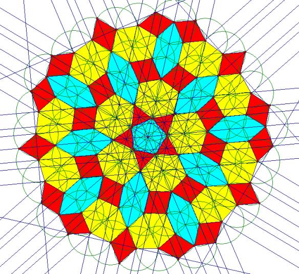 Euclidean Mandala with construction lines