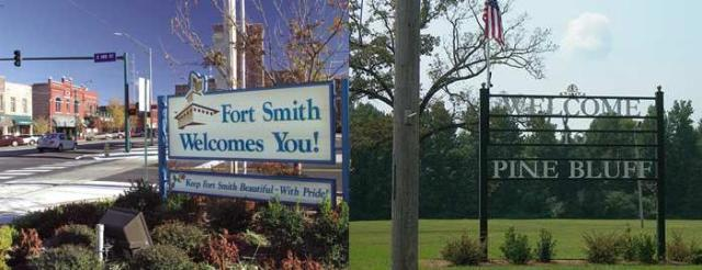 Fort Smith is Pine Bluff