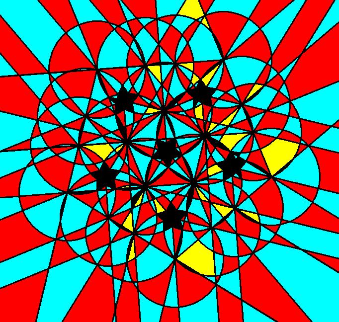 pentagonal system of vortices