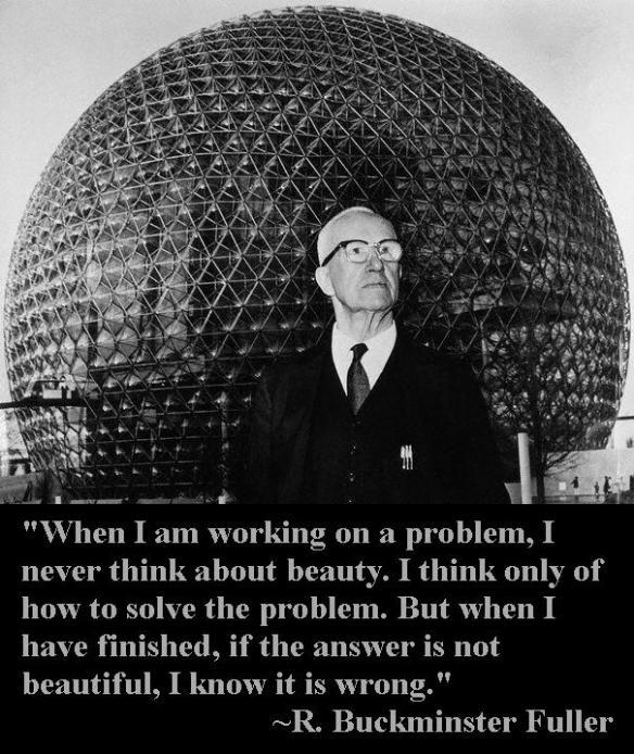 Buckminster Fuller in Front of Dome