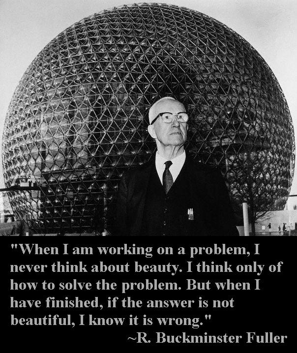 Buckminster Fuller in Front of Dome