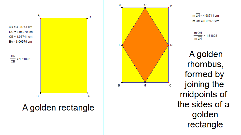 golden rhombus