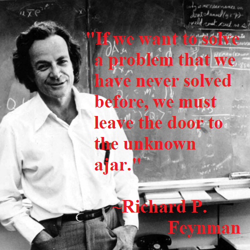 richard-feynman on solving new problems
