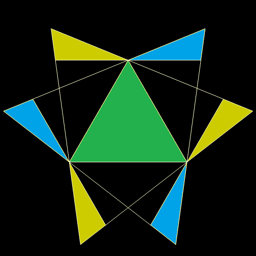 COBOCTA 5 COLORED TRIANGLE Face
