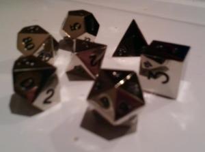metal AD&D dice
