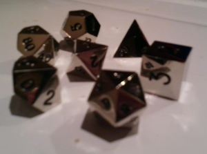 metal AD&D dice