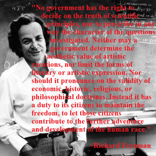 richard-feynman on limited government