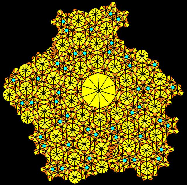 sprawling golden tiling