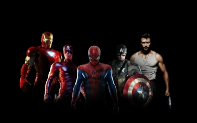 Movies_Spider_man_Spider_man_DareDevil_Iron_Man_Captain_America_Wolverine_Black_43340_detail_thumb
